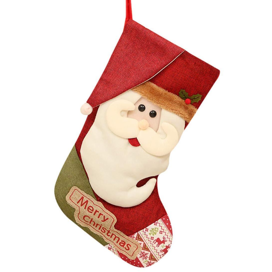 ahorra hasta un 70% A Holiday Gifts Home 10 Unids Unids Unids Navidad Calcetines de Cocheamelo, Let It Snow Merry Christmas Santa Claus Muñeco de Nieve Bolsa de Almacenamiento Decoraciones, Regalos para Niños (Color   A)  el mas de moda