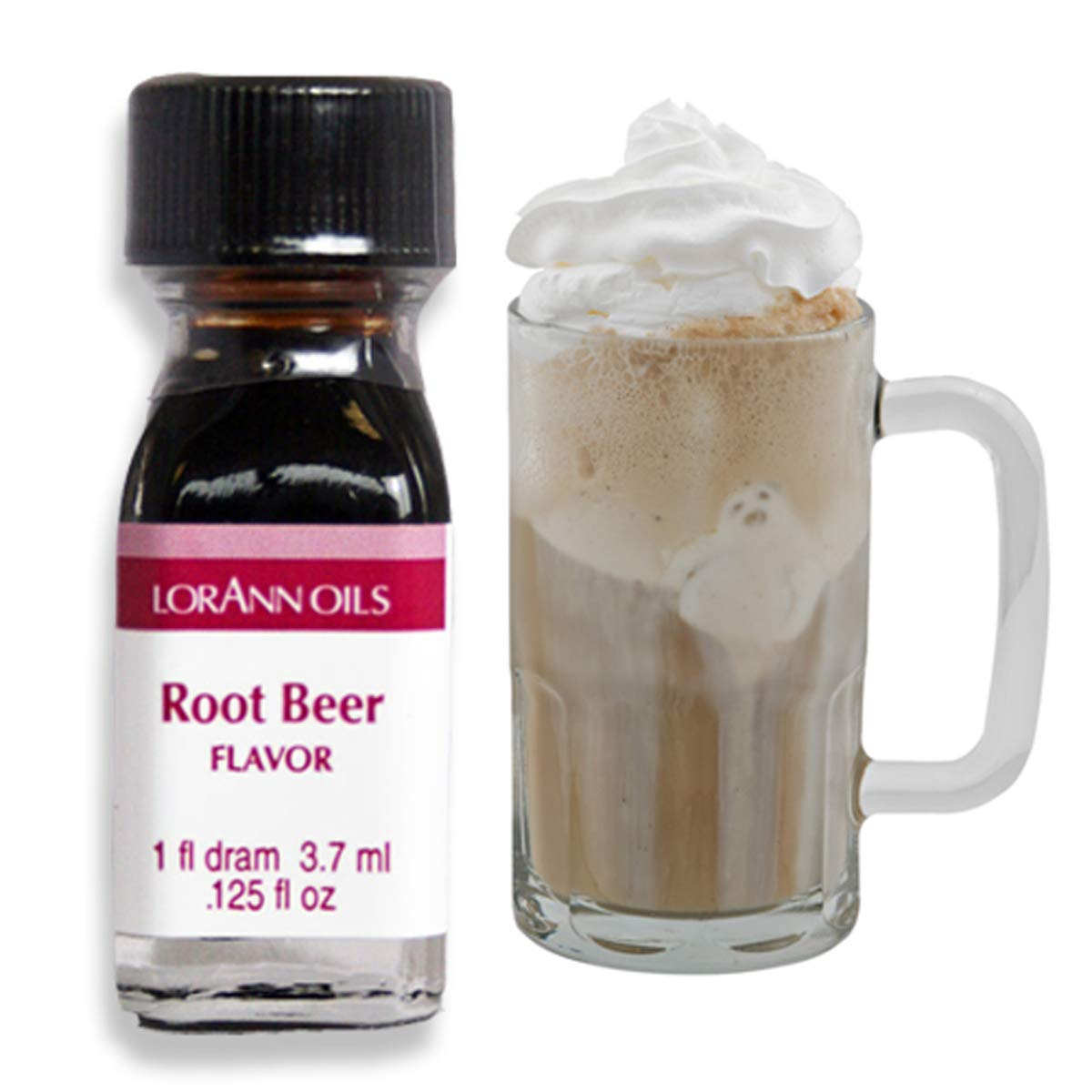LorAnn Super Strength Root Beer Flavor, 1 dram bottle (.0125 fl oz - 3.7ml)