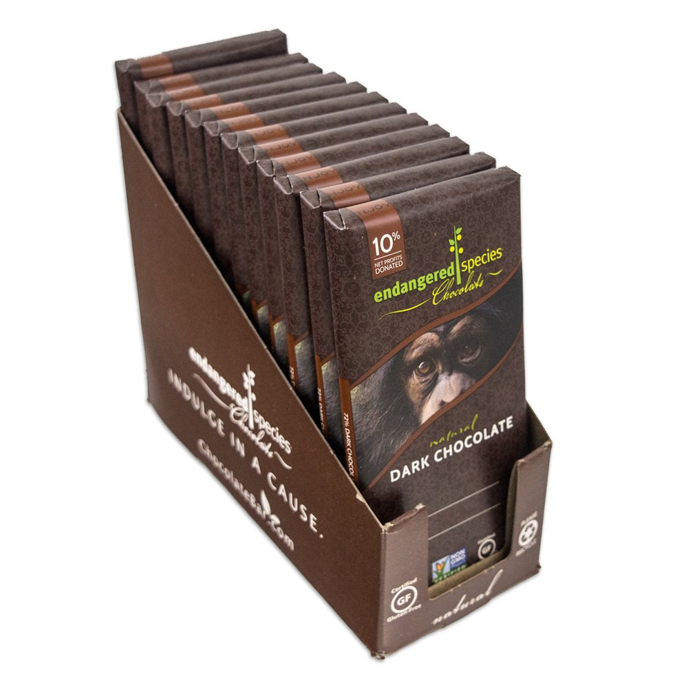 Amazon.com : Endangered Species Chimpanzee, Natural Dark Chocolate ...