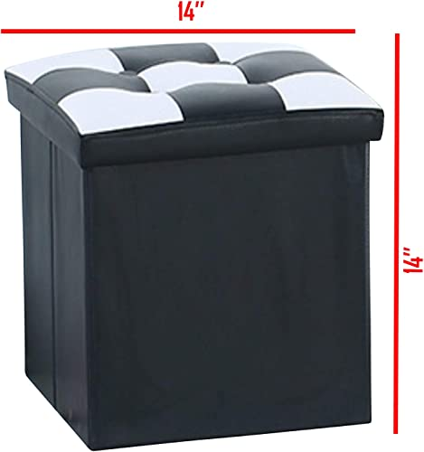 B.N.D TOP Folding Storage Ottoman Bench