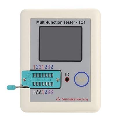 KKmoon Pantalla colorida Probador de transistores TFT multifuncional Contraluz Didoe Triodo Capacitancia Resistor Detector Inductancia MOSFET
