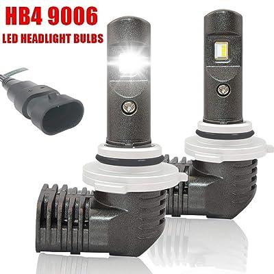 NSLUMO 9006 LED Headlight Bulb 1:1 Design HB4 9006 Low Beam Conversion Kits 6000K 5600LM IP67 Waterproof Bright White Fog Light 2 Years Warranty (2 Pack): Automotive