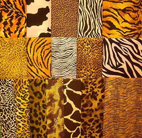 17 Fat Quarters Animal Skin Print from Marshall Dry Goods 100% Cotton Quilt Fabric
