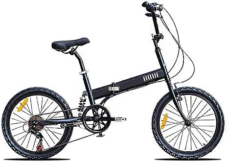 LPsweet Bicicleta Plegable, Plegado Fácil Y Continúe Diseño Marco De Aleación De Aluminio De La Ciudad Luz De Bicicletas Plegables Hombres Mujeres Velocidad Y La Bici del Camino Al Aire Libre,Negro: Amazon.es: