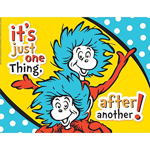 Eureka Dr. Seuss The Cat in the Hat 'One Thing After Another' Classroom Poster, 17'' W x 22'' H]()