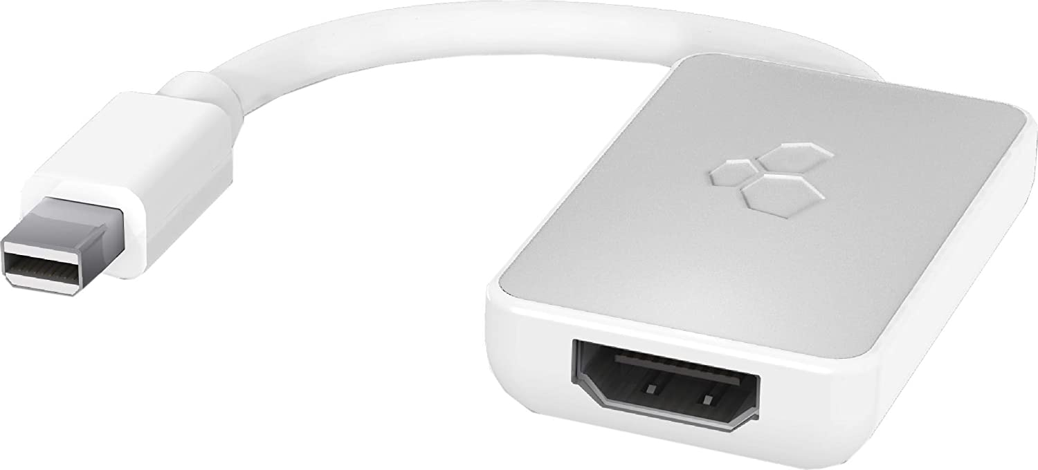 Kanex iAdapt Mini DisplayPort / Thunderbolt to HDMI Adapter with Audio Support for Apple MacBook, iMac, Mac mini, Microsoft Surface Pro3
