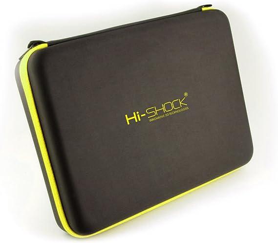 Hi-Shock® Quad Case Jersey   Estuche Organizador al Impacto con Cierre a Cremallera y Compartimiento para 4 Gafas [ Acolchados  Negro]: Amazon.es: Electrónica