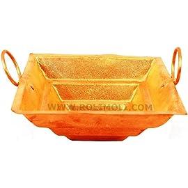 Shri Anand Copper Hawan Kund (8 inchs)(Free 100g Hawan Samagri)