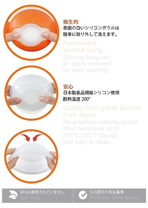 Simba Anti-scald silicone suction bowls, Orange by Simba ...