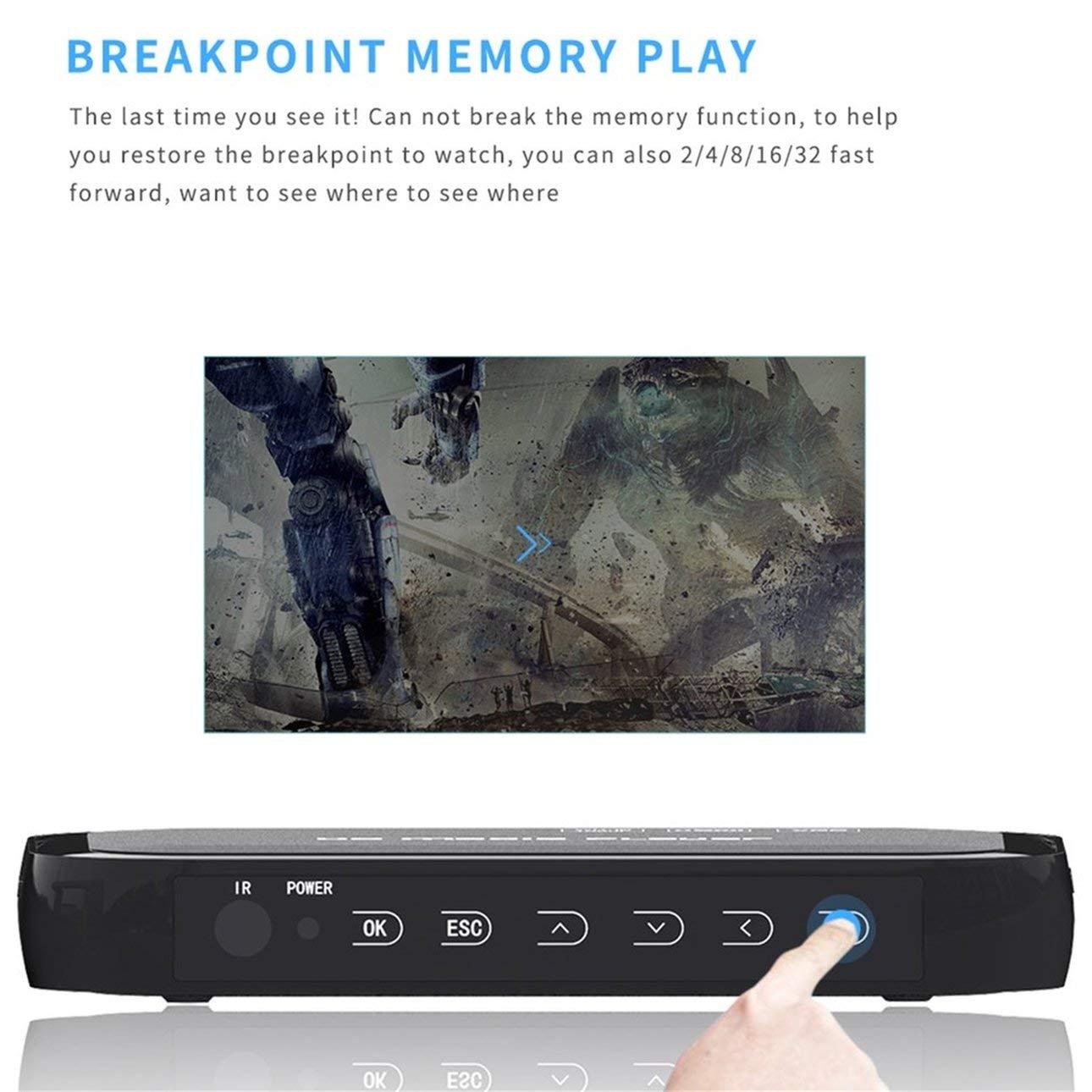 Ballylelly Lettore multimediale 3D Full HD 1080P con 01 modalit/à di Controllo HDMI VGA Multiple