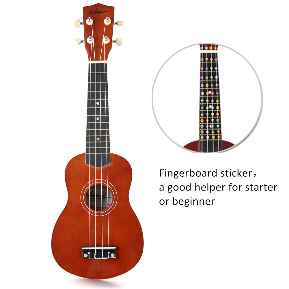 Amazon adm ukulele 21 soprano wood economic starter pack amazon adm ukulele 21 soprano wood economic starter pack with gig bag tuner fingerboard sticker chord card brown musical instruments hexwebz Choice Image
