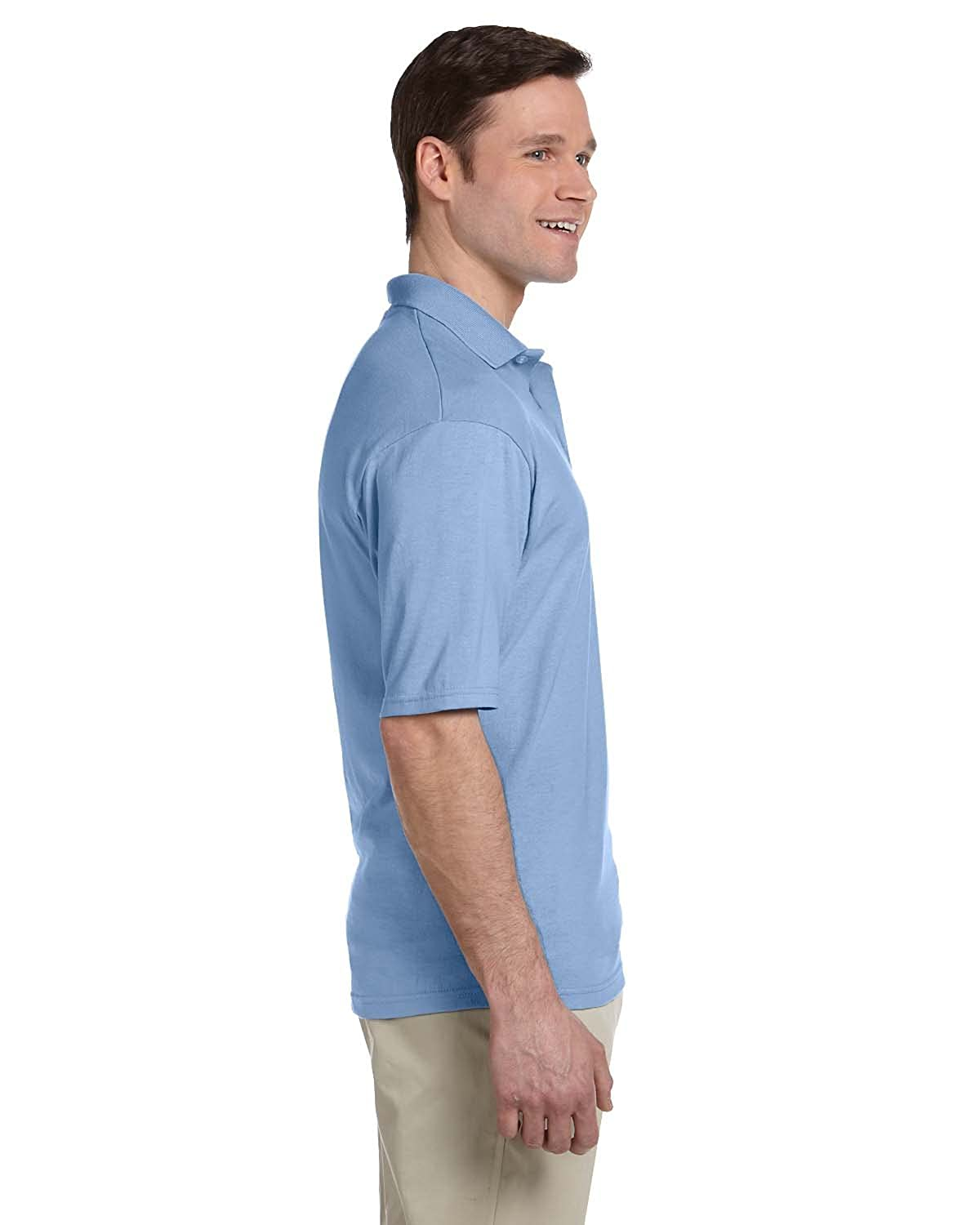 Jerzees Mens Five Point Left Chest Pocket Polo Shirt
