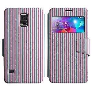 LEOCASE Tira Vertical Funda Carcasa Cuero Tapa Case Para Samsung Galaxy S5 I9600 No.1001021