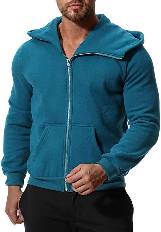 ZZBO Herren Sweatjacke Outwear Hoodie mit Taschen und