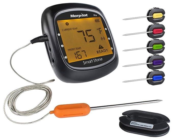 19 opinioni per Termometro Cucina, Morpilot Termometro Barbecue da Carne 6in1 con Bluetooth App