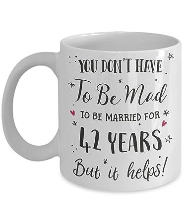 Amazon 42nd Wedding Anniversary Gift Mug Funny Wife Or