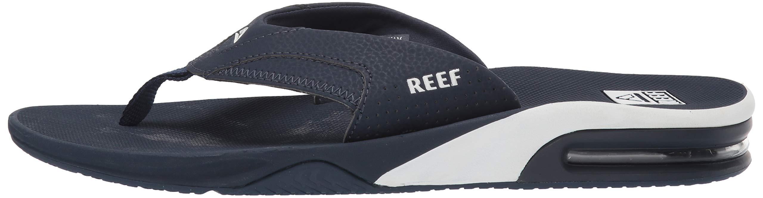 Reef Men's Fanning Sandal Navy/White 100 M US by Reef (Image #5)