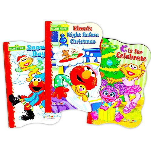 Sesame Street Elmo Holiday Board Book Set For Kids Toddlers (Set of 3 Board (Elmo Toys For Girls)
