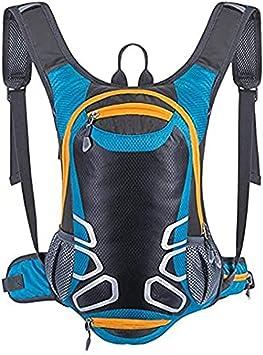 Mochila de ciclismo con soporte para casco, mochila ligera de esquí de 15 l (pequeña, compacta, resistente al agua), para senderismo, camping, ...