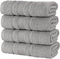 Qute Home Bath Towels Set, 100% Turkish Cotton Premium Quality Bathroom Towels, Soft and Absorbent Turkish Towels, Set...