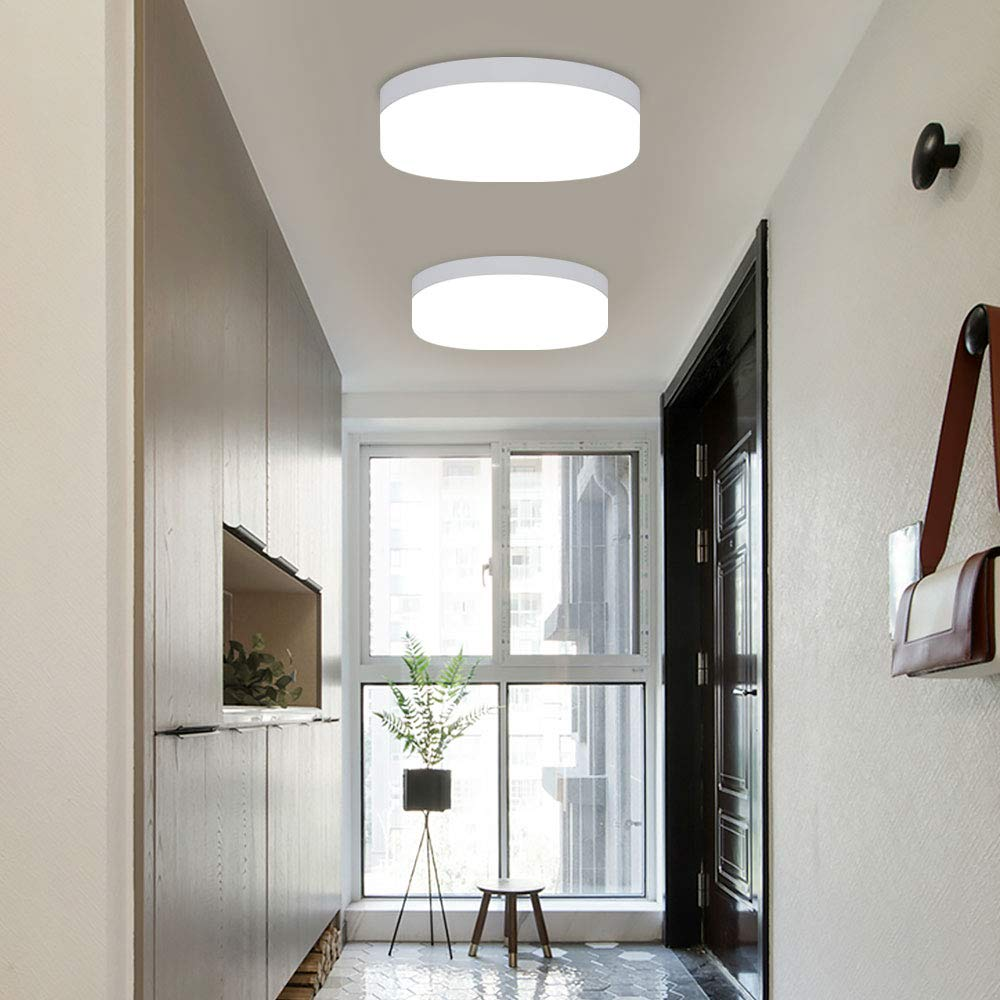 Dllt 12w Led Closet Ceiling Light Fixtures Ip44 Waterproof Round Flush Mount Ceiling Light Surface Mounted Lighting For Porch Corridor Hallway Stairwell Wet Location Laundry Room 5000k Cool White Buy Online In Bahamas