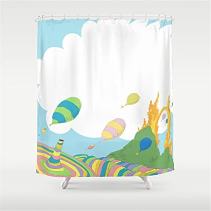 Huisfa Oh The Places Youx27ll Go Dr Seuss Shower Curtain 72 X Inches
