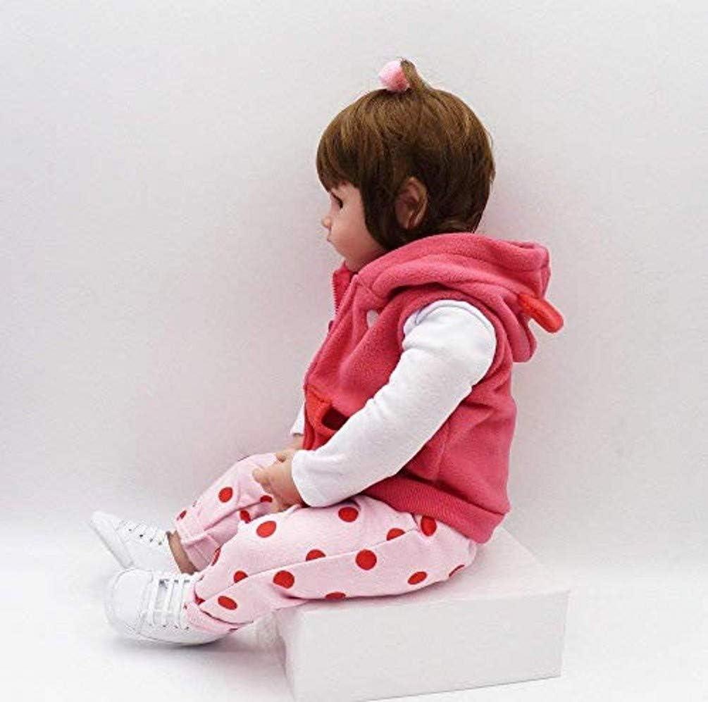 18 Zoll 47 cm Reborn Babypuppe Kleinkind Puppe Silikon Vinyl Puppe Realistische Puppe Extra EIN Hirschspielzeug