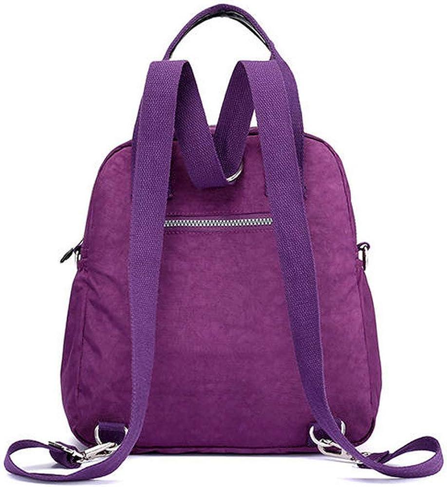 HVTKL Tracolla da Viaggio Multiuso Elegante Donna Elegante in Nylon Color Purple