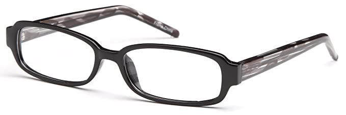 22e174263d Unisex Square Glasses Frames Black Prescription Eyeglasses 52-18-140