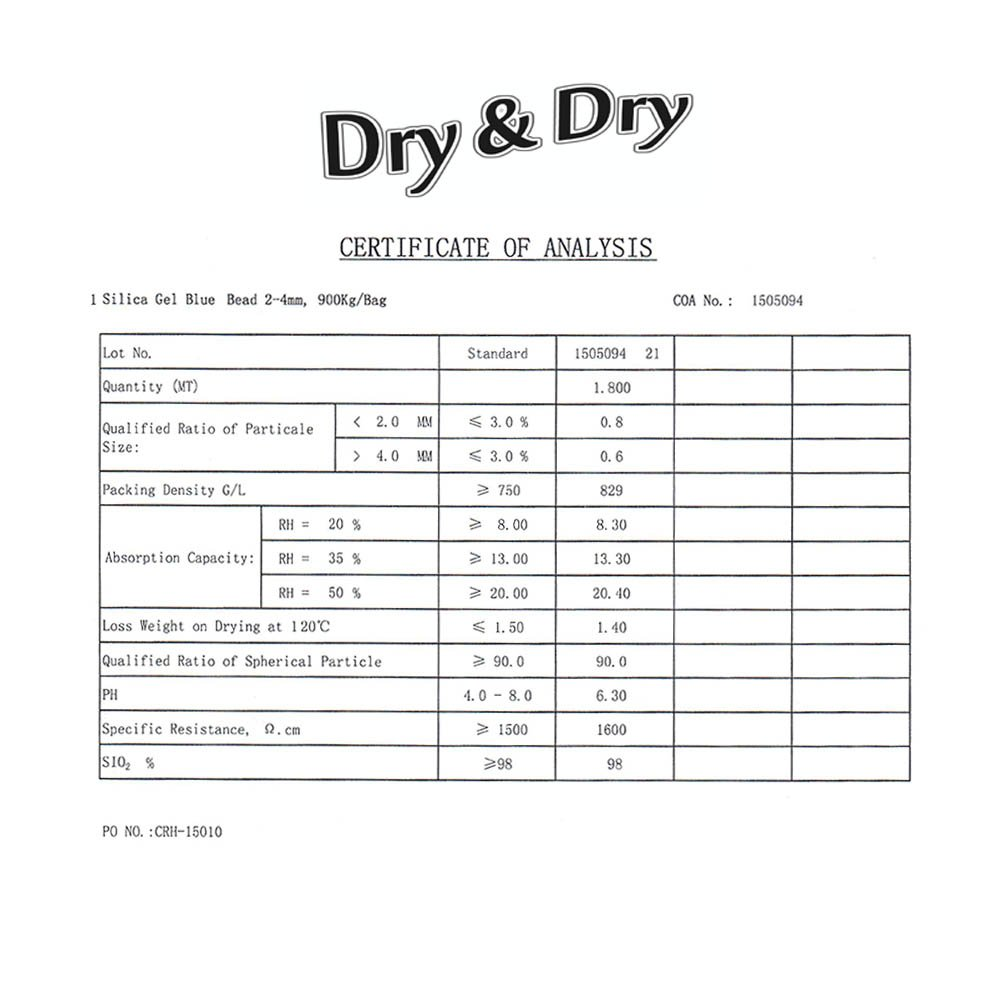 Dry & Dry 2 Gallon Blue Premium Desiccant Indicating Silica Gel Beads(Industry Standard 2-4 mm) - 15 LBS Reusable by Dry & Dry (Image #5)