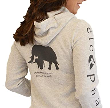 c4153039 Women's Elephant Super Soft, Organic Cotton Fleece Hoodie, Oatmeal M ...