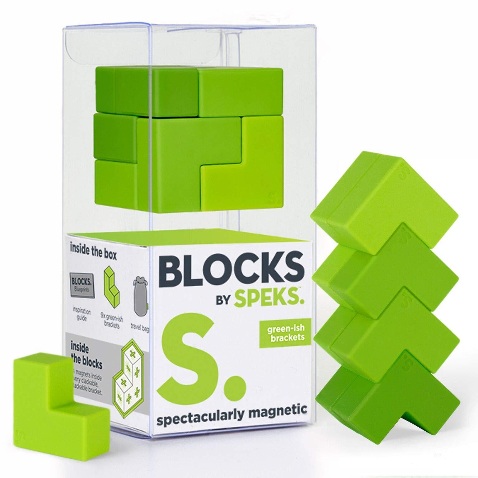 Speks Blocks Brackets. Magnetic Blocks for Adults. The World's Best Desk Toys. by Speks