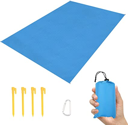 3 in 1 Beach Blanket Sand Proof Waterproof Blanket Raincoat Mat Canopy for Travel Hiking Camping Outdoor Picnic Blanket