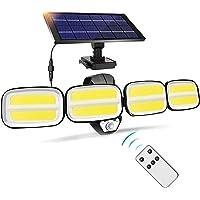 JYDirect Solar Motion Sensor Lights Outdoor, 4 Heads Security Lights Solar Powered,240 COB 800lm Flood Light Motion…