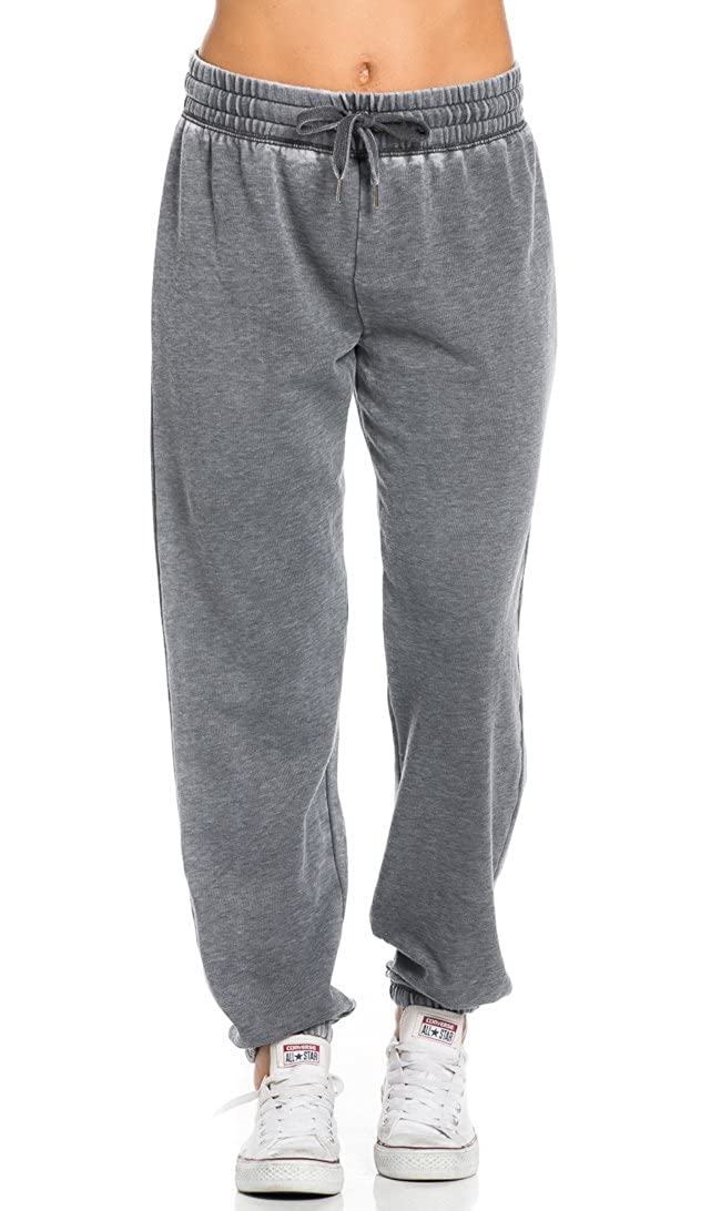 SOHO GLAM Comfy Pigment Washed Drawstring Jogger Pants in Gray Sohogirl.com APGMTWSHJGRY-S
