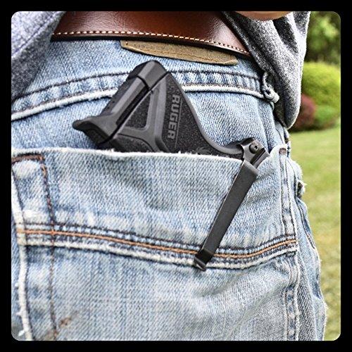 ClipDraw Concealed Gun Belt Clip for Ruger LCP (Gun Clip Holster)