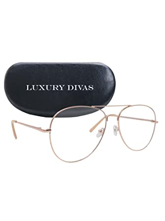 ca23c6e9333 Image Unavailable. Image not available for. Color  Gold   Clear Color Aviator  Style Sunglasses ...