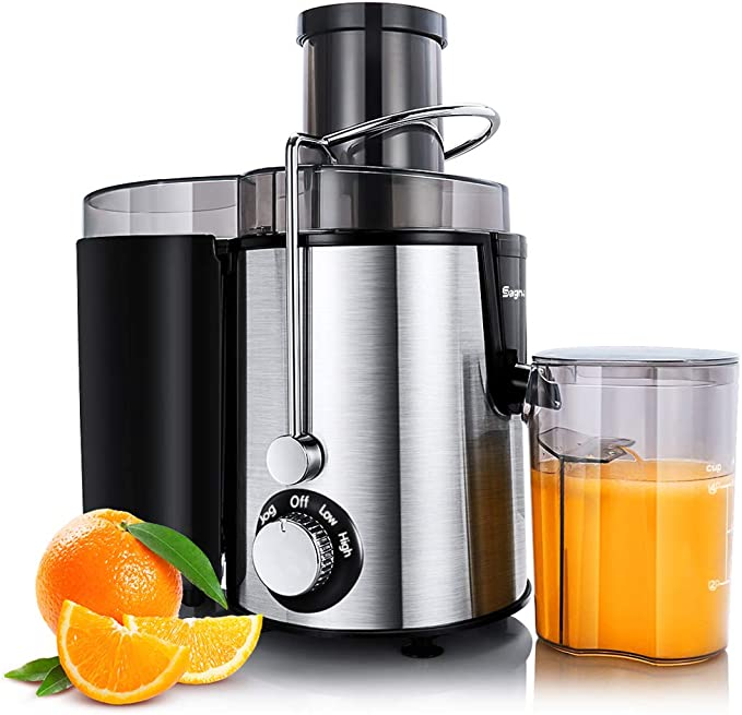 AmazonSmile: Juicer Machines Centrifugal Juice Extractor for Whole Fruit and Vegetables, BPA-Free, Dual Speed and Overheat Overload Protection, Anti-drip and Detachable Stainless Steel Citrus Juicer, Included Brush: Kitchen & Dining