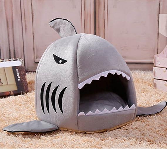Cojín Caliente Cama Caseta Para Perro Almohadas Perros Sofá avec Diseño de Tiburón Único Domésticos L