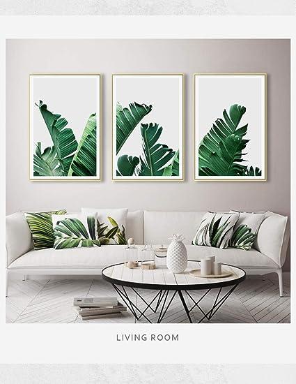 AKLIGSD Quadri su Tela Pittura su Tela Foglia di Palma Verde ...