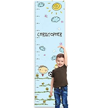 Mermaids Paper Themes Personalised Childrens Height Chart for Kids Nursery Wall or Bedroom