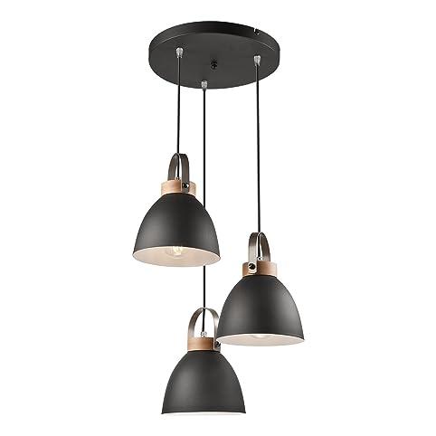 Pendel Leuchte Decken Leuchte Aus Metall E27 Hänge Leuchte Vintage  Industrieleuchte Wohnzimmerlampe Modern