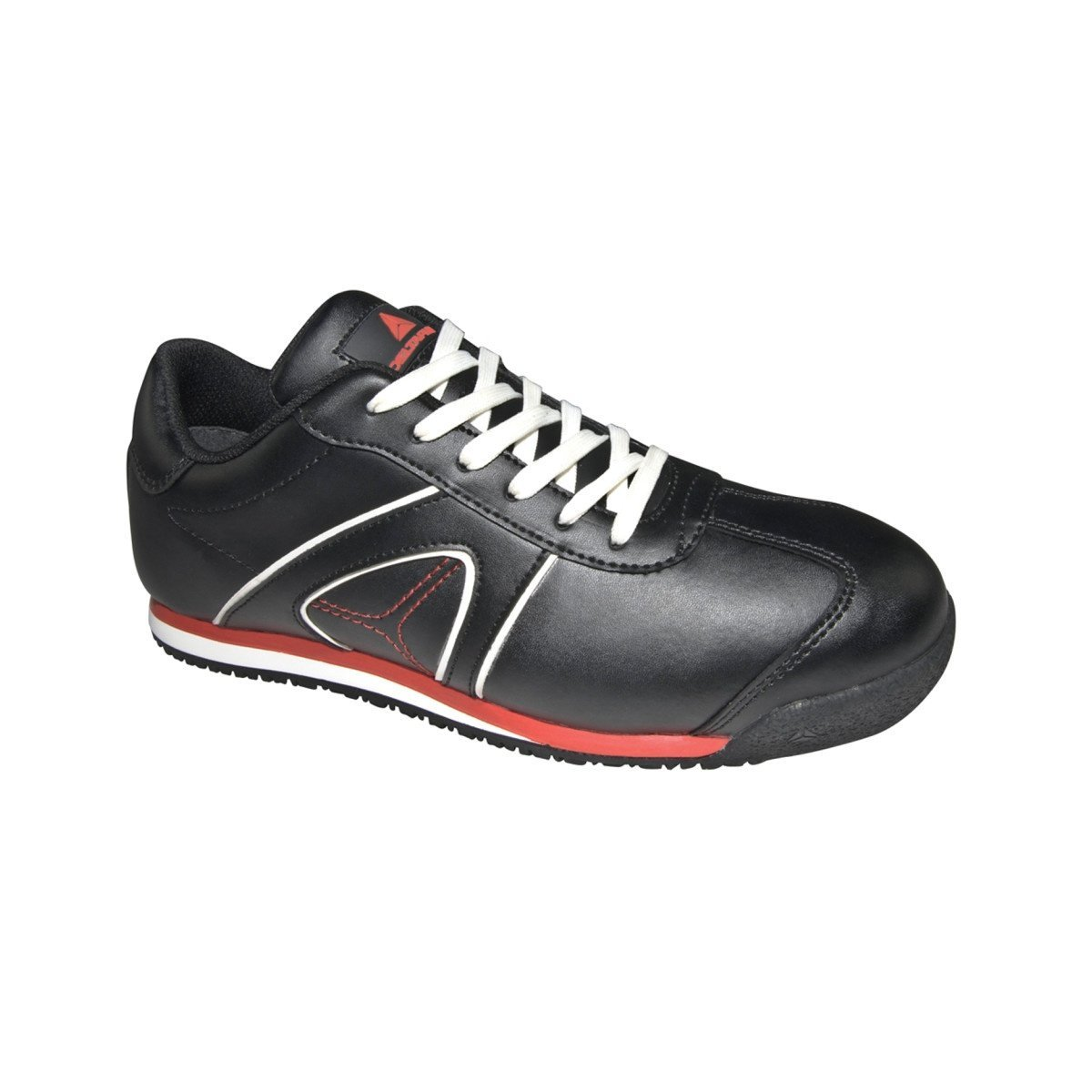 Deltaplus Women's Spirit Low Black Leather Safety Trainer Shoes US Size 10 by Delta