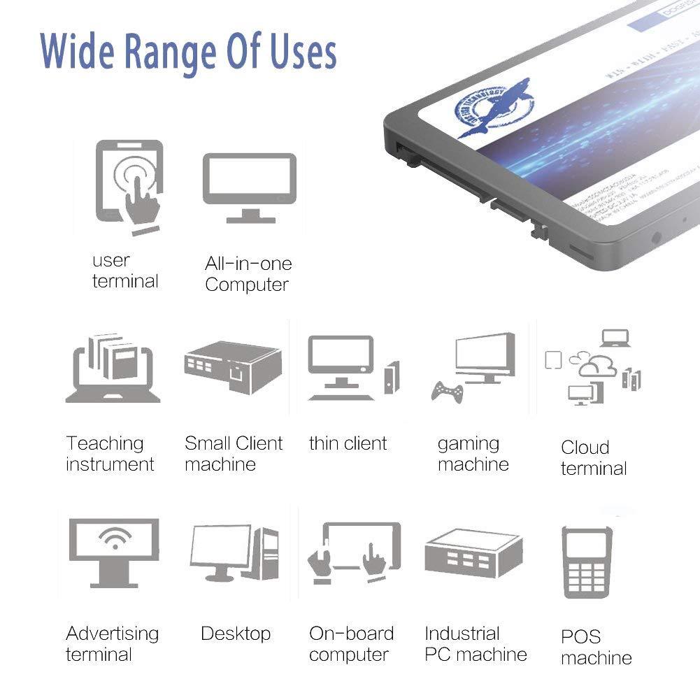 Dogfish SSD 240GB SATA3 III 2.5 Inch Unidad de Estado s/ólido incorporada 7MM Height MLC TLC High Speed 240GB