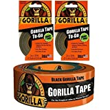 (2) Gorilla Tape To-Go with (1) 1.88in x 12yd Black Gorilla Tape Bundle
