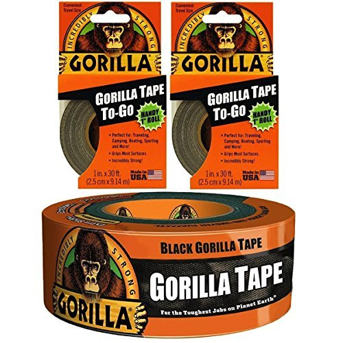 (2) Gorilla Tape To-Go with (1) 1.88in x 12yd Knavish Gorilla Tape Bundle