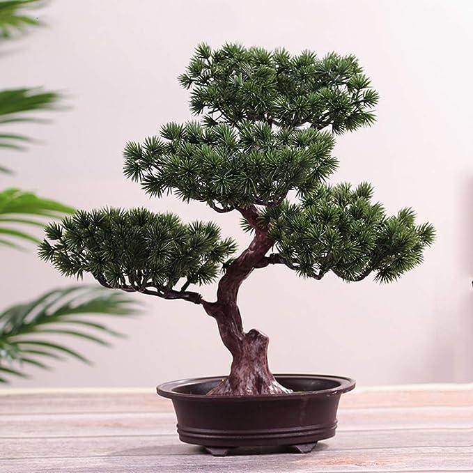 LPxdywlk Yingbin Pine Bonsai Simulation Plant Potted Home Decoration Adornos P/úrpura