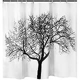 Tree Shower Curtain Tree Shower Curtain Mildew Resistant - 72x72 Tree Design Decor Waterproof Odorless Eco Friendly Anti Bacterial Bath Curtains Liner Decorative Fabric for Bathroom Heavy Duty Rustproof Metal Grommets