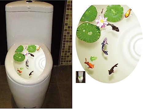 Waterproof Toilet lid Wall Stickers Creative Decals Flower Decoration Bathroom