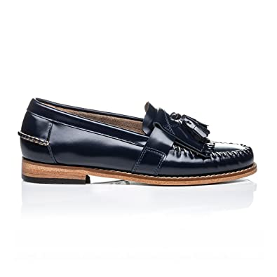 b3020f2ed7cf6 G.H. Bass Weejuns Women s Elspeth Kiltie Navy Leather  Amazon.co.uk ...